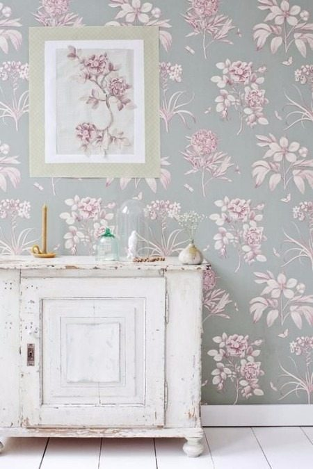 Behang mode voor de muur mart 39 s blog for Pink and grey bedroom wallpaper